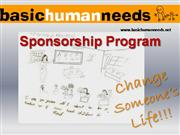 basic human needs sponsorship program
