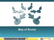 Editable PPT Map of Brunei