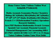 Home Tutors Tutor Tuitions Tuition West Delhi(Mb 9716862610)