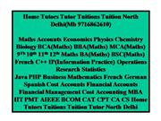 Home Tutors Tutor Tuitions Tuition North Delhi(Mb 9716862610)