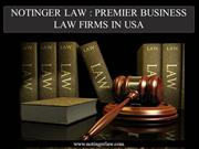 NOTINGER LAW PREMIER BUSINESS LAW FIRMS IN USA