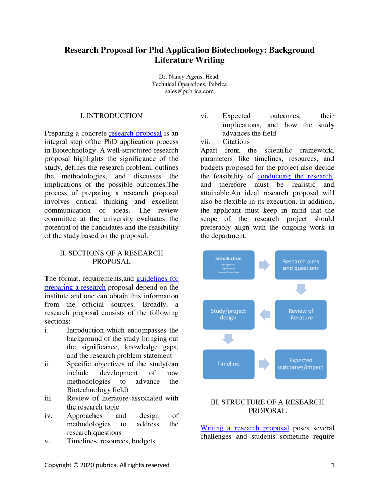 Research proposal for phd application