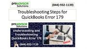 Troubleshooting steps for QuickBooks Error 179