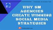 Why SM Agencies Create Winning Social Media Strategies