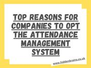 Benefits of Time and Attendance Software