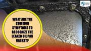 What are the Common Symptoms to Recognize the Leaked Oil Pan Gasket