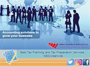 Best Tax Planning and Tax Preparation Services - SBSGreenville