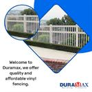 Revamp your pool area with the Duramax vinyl pool fence