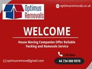 Packing and Removals Service in London