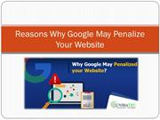 Reasons Why Google May Penalize Your Website