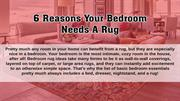 6 Reasons Why Your Bedroom Need A Rug | Modern Designer Carpets