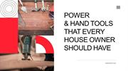 LOOKING TO SHOP ONLINE FOR POWER TOOLS & HAND TOOLS?
