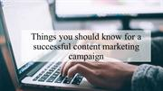 Tips and Tricks For a successful content marketing Campaign