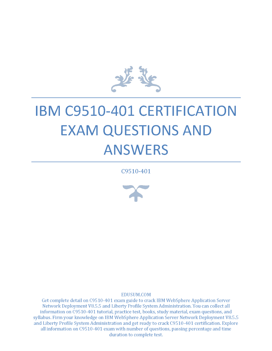 certification ibm exam answers questions