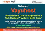 Domain Name Registration Company Delhi