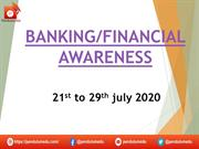 banking awareness 21st to 29th july 2020