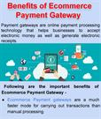 Benefits of Ecommerce Payment Gateway