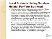 Local Business Listing Services Helpful For Your Business!