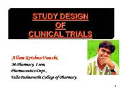 clinical trials and study designs...