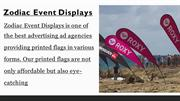 Wind Flags Online | Zodiac Event Displays
