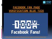 facebook Fan Page Verification Blue Tick