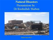 Natural Disasters Roohullah shabon