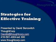 Effective Training Strategies Roohullah Shabon