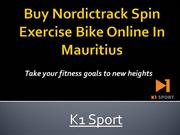 Buy Nordictrack Spin Exercise Bike Online In Mauritius - K1-Sport