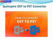 SysInspire OST to PST Converter