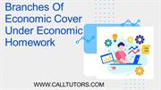 Branches Of Economic Cover Under Economic Homework