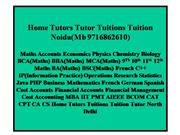 Home Tutor  Tuition Noida(Mb 9716862610)