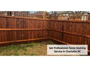 Get Professional Fence Staining Service In Charlotte Nc