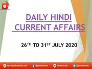 hindi 26th to 31st july 2020