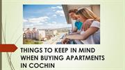 THINGS TO KEEP IN MIND WHEN BUYING APARTMENTS