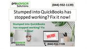 Trapped into QuickBooks has stopped working Fix it now