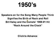Birth of Rock & Roll