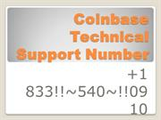 Coinbase Technical ☎️+1 833..540.0910☎️   Support Number