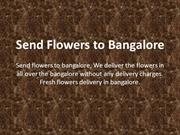Send flowers to Bangalore | Online flowers delivery in Bangalore