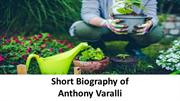 Short Biography of Anthony Varalli