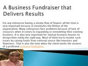 A Business Fundraiser that Delivers Results