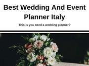 Best Wedding And Event Planner Italy