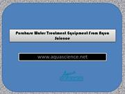 Purchase Water Treatment Equipment From Aqua Science