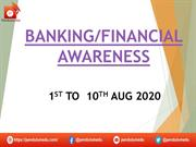 banking awareness 1ST TO 10TH AUG 2020