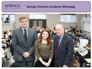 Springs Christian Academy Winnipeg - #1 Christian Education