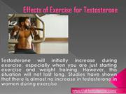 Effects of Exercise for Testosterone