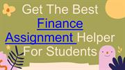 Get The Best Finance Assignment Helper For Students