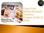 Check Free Online Discount Coupons, Coupon Codes & Deals