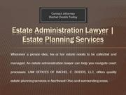 Estate Administration Lawyer - Estate Planning Services