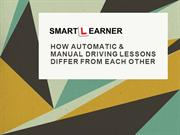 How automatic & manual driving lessons differ from each other