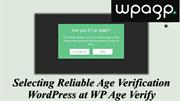 WordPress Age Verification Plugins to Assist You Add an Age Gate